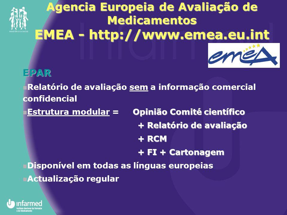 Agencia Europeia de Avaliação de Medicamentos EMEA - http://www. emea