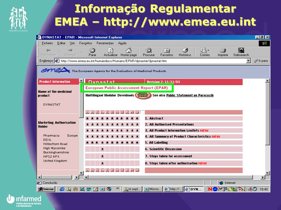 Informação Regulamentar EMEA – http://www.emea.eu.int
