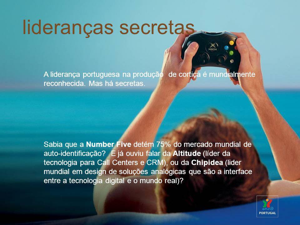 lideranças secretas A liderança portuguesa na produção de cortiça é mundialmente reconhecida. Mas há secretas.