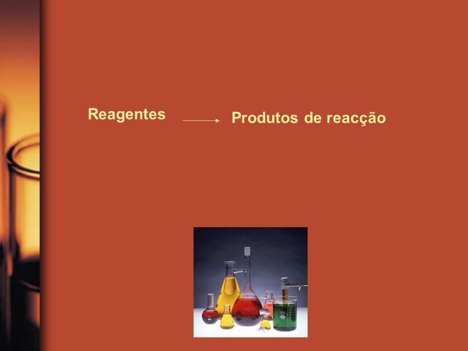 Reagentes Produtos de reacção