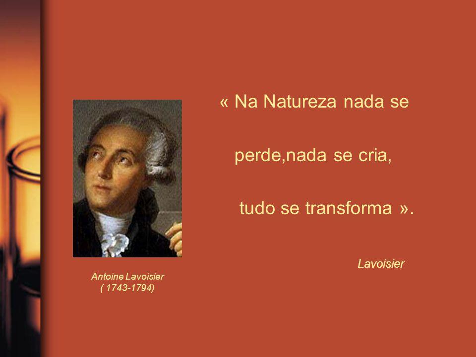 « Na Natureza nada se perde,nada se cria, tudo se transforma ».