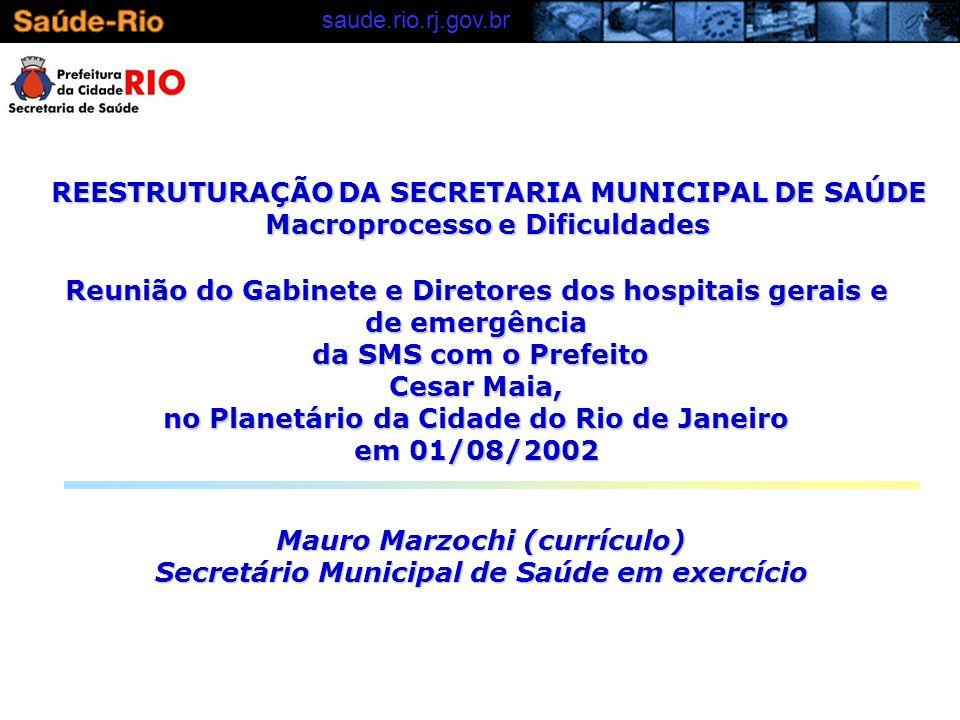 REESTRUTURAÇÃO DA SECRETARIA MUNICIPAL DE SAÚDE