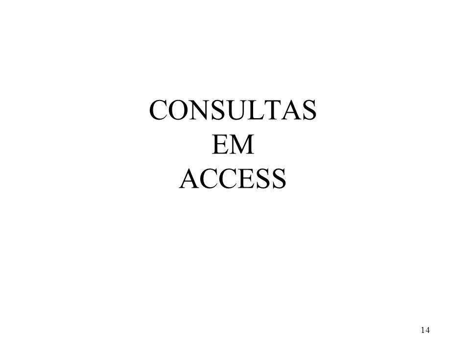 CONSULTAS EM ACCESS