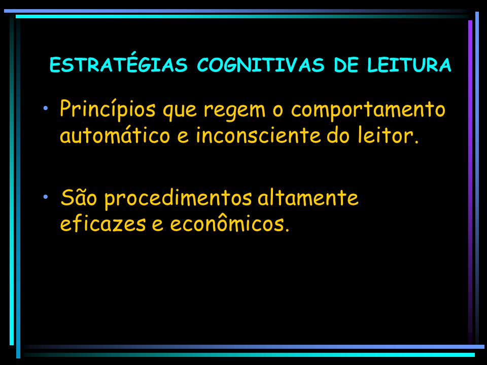ESTRATÉGIAS COGNITIVAS DE LEITURA