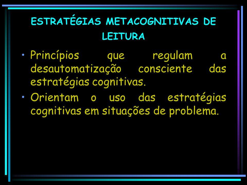 ESTRATÉGIAS METACOGNITIVAS DE LEITURA