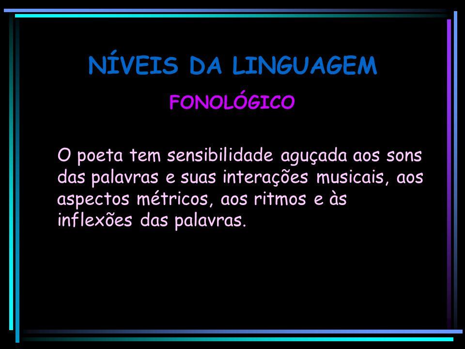 NÍVEIS DA LINGUAGEM FONOLÓGICO