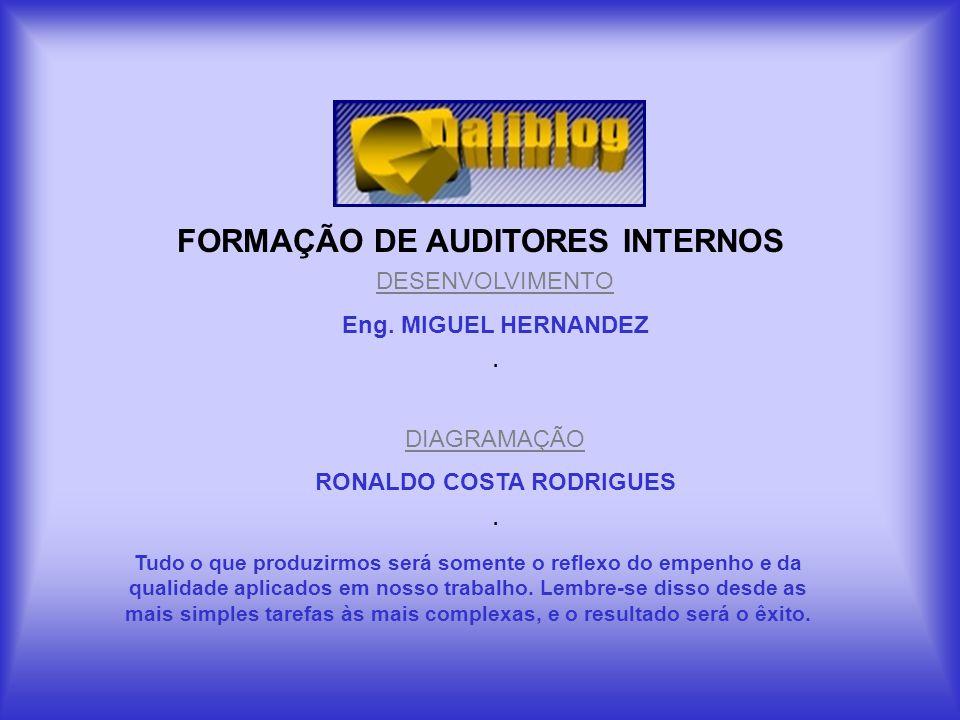 FORMAÇÃO DE AUDITORES INTERNOS RONALDO COSTA RODRIGUES