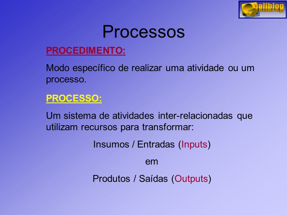 Processos PROCEDIMENTO:
