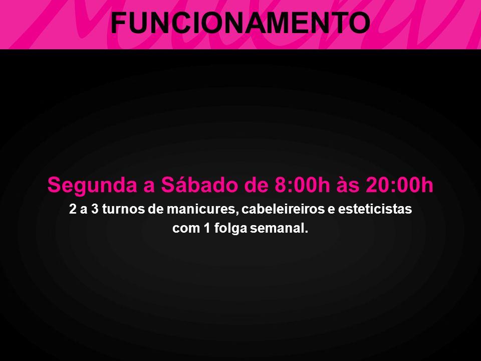 FUNCIONAMENTO Segunda a Sábado de 8:00h às 20:00h