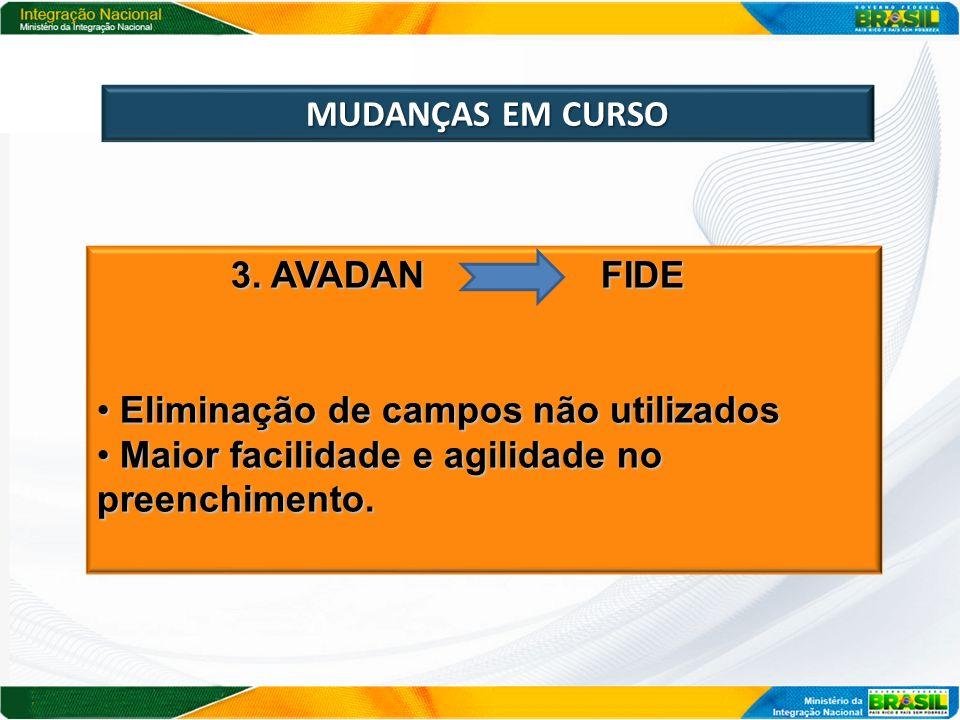MUDANÇAS EM CURSO 3. AVADAN FIDE.
