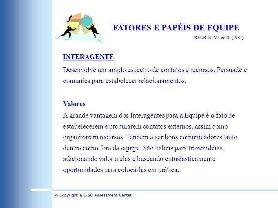 FATORES E PAPÉIS DE EQUIPE