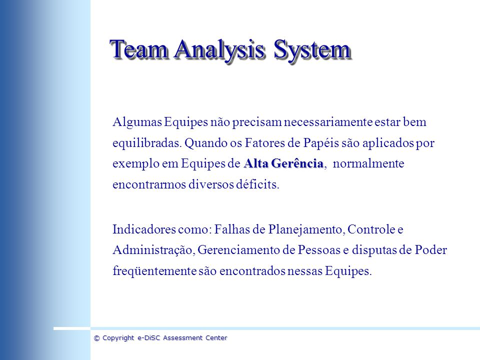 Team Analysis System