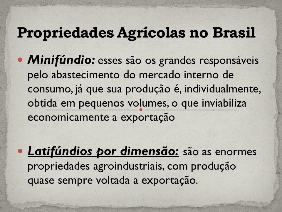 Propriedades Agrícolas no Brasil