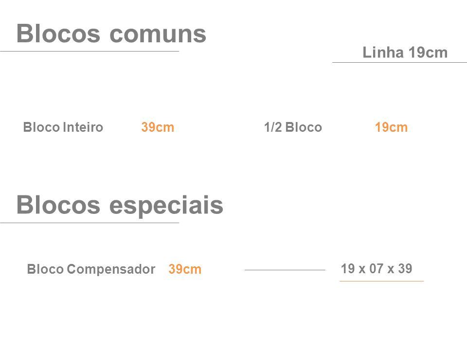 Blocos comuns Blocos especiais Linha 19cm Bloco Inteiro 39cm