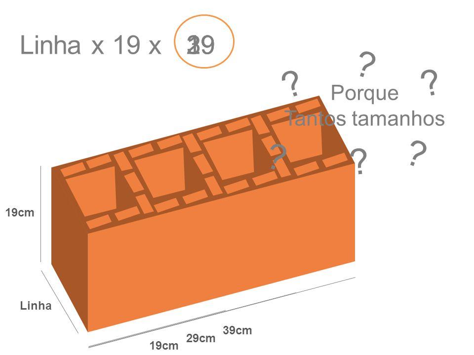 Linha x 19 x 39 29 19 Porque Tantos tamanhos 19cm Linha