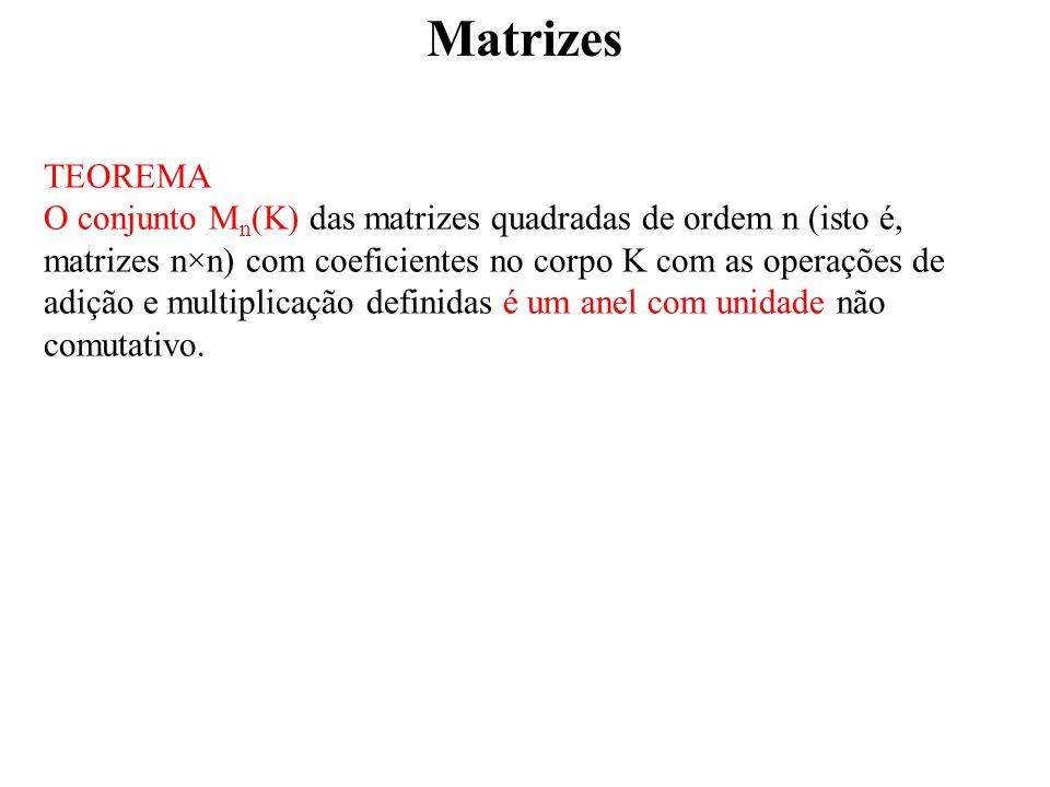 Matrizes TEOREMA.