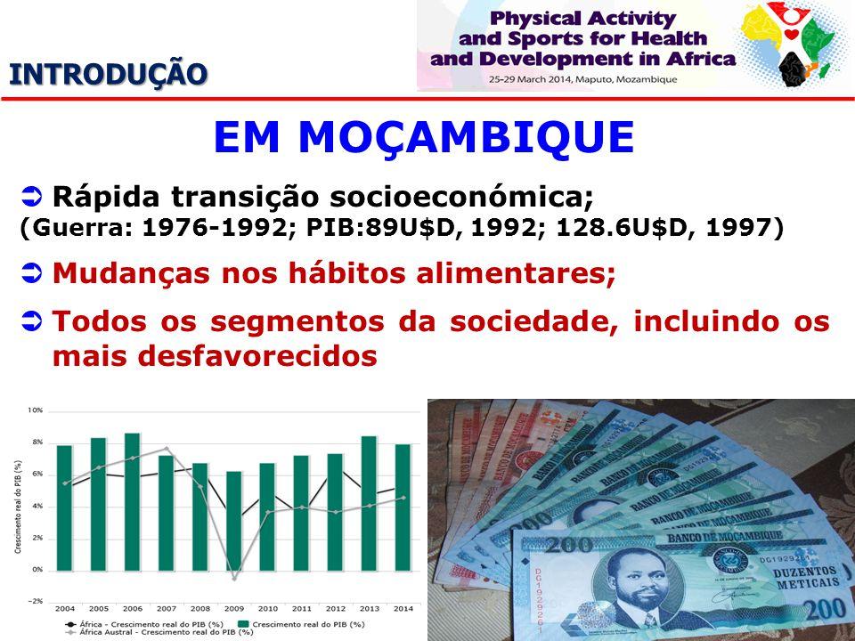 EM MOÇAMBIQUE INTRODUÇÃO Rápida transição socioeconómica;