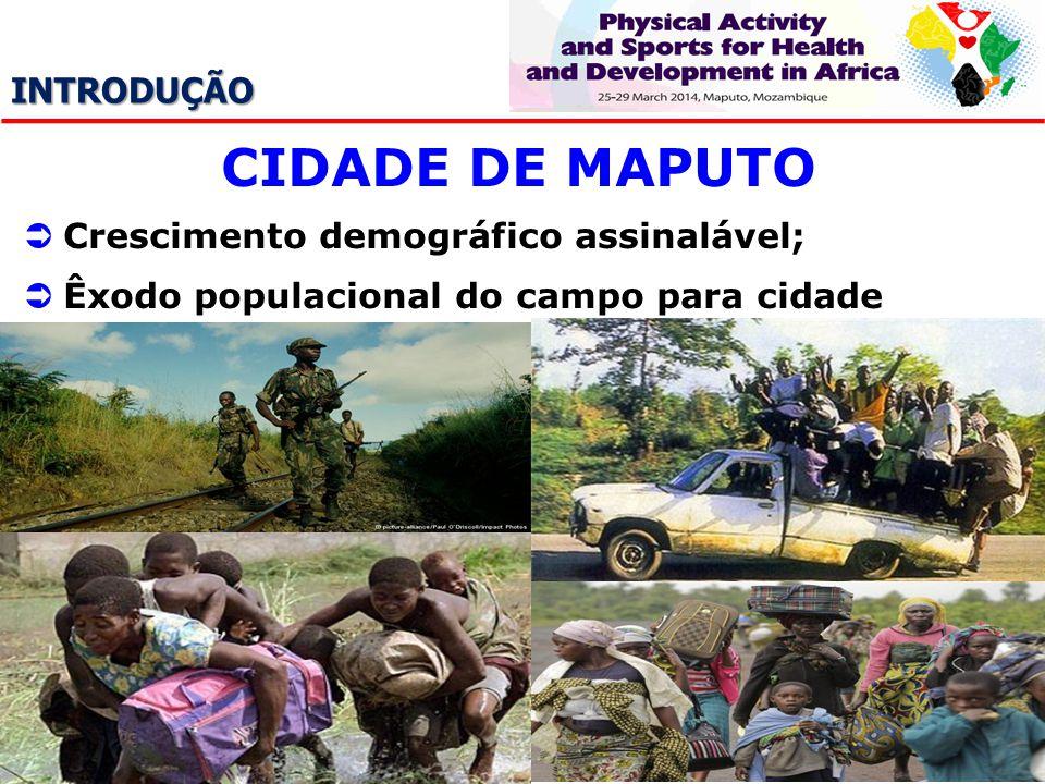 CIDADE DE MAPUTO INTRODUÇÃO Crescimento demográfico assinalável;