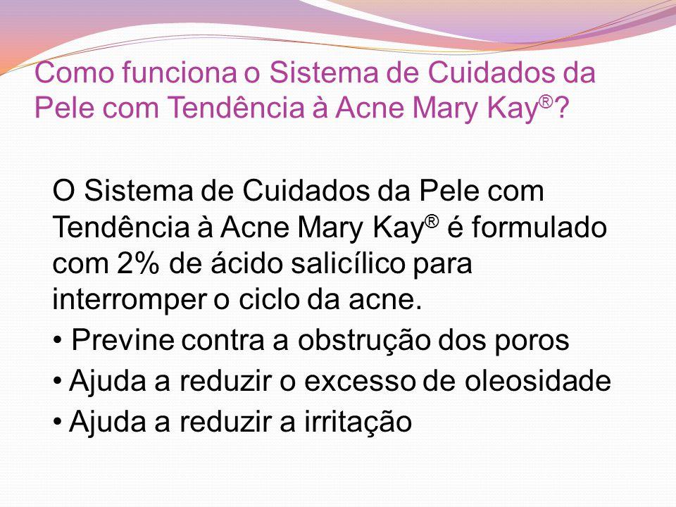 Como funciona o Sistema de Cuidados da Pele com Tendência à Acne Mary Kay®