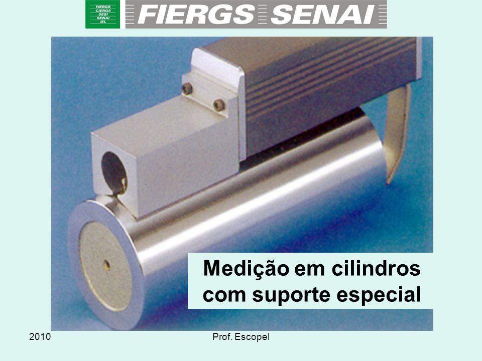 Medição em cilindros com suporte especial