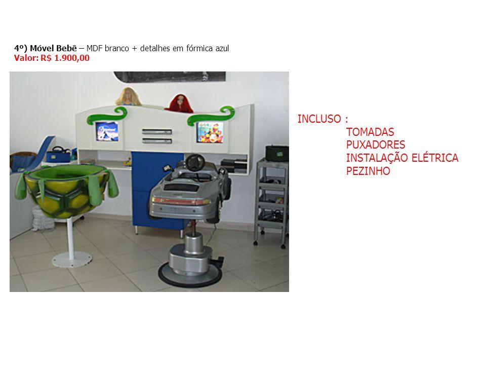 INCLUSO : TOMADAS PUXADORES INSTALAÇÃO ELÉTRICA PEZINHO