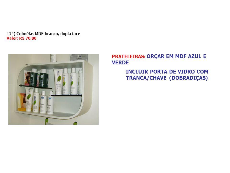 INCLUIR PORTA DE VIDRO COM TRANCA/CHAVE (DOBRADIÇAS)