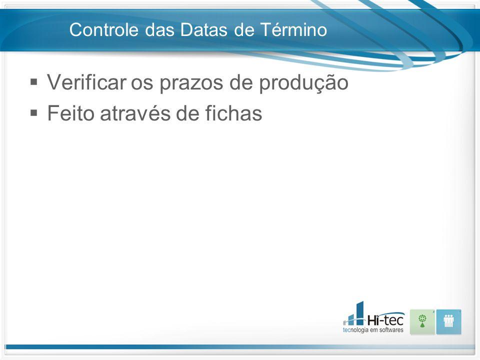 Controle das Datas de Término