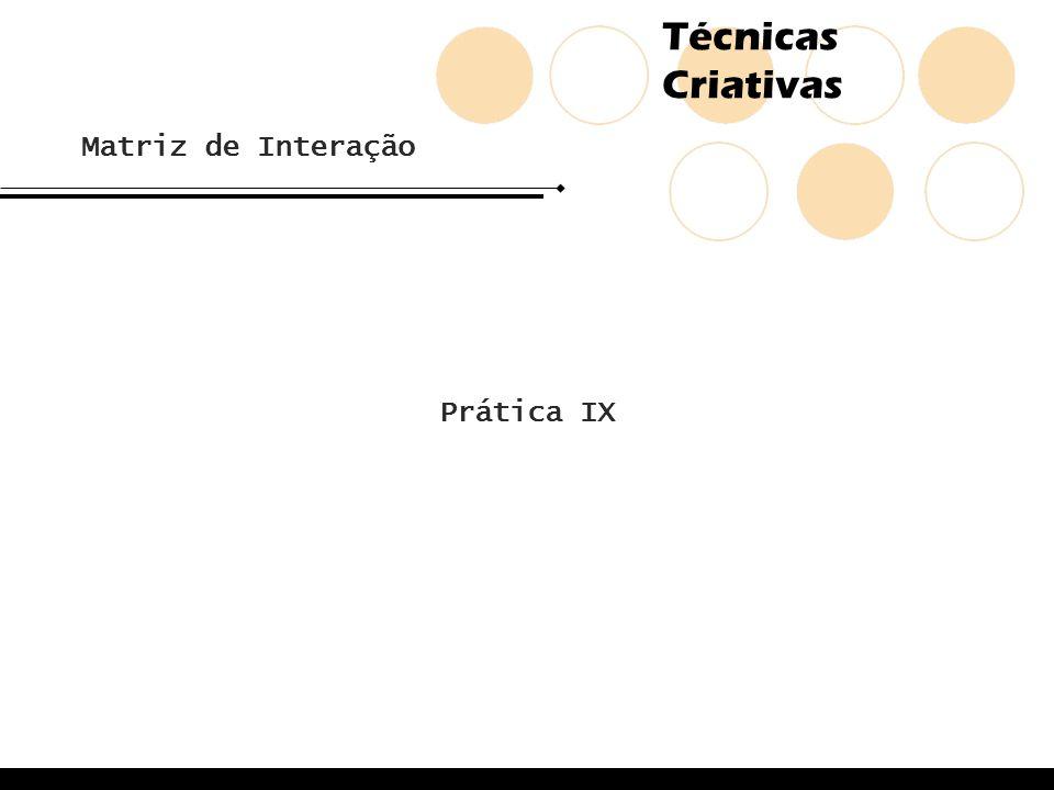 Matriz de Interação Prática IX