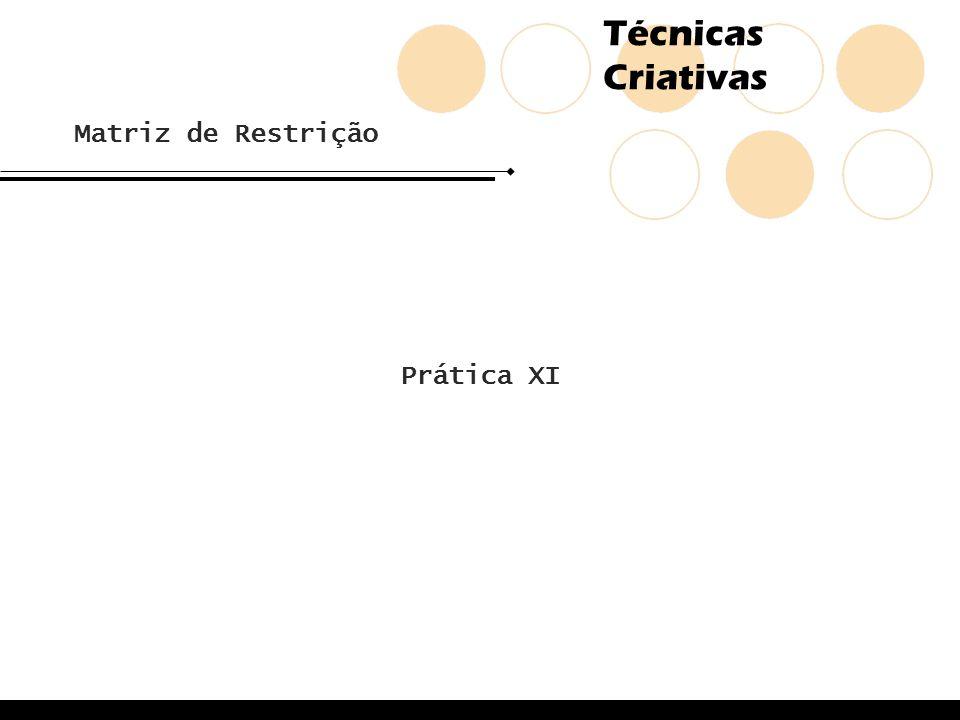 Matriz de Restrição Prática XI