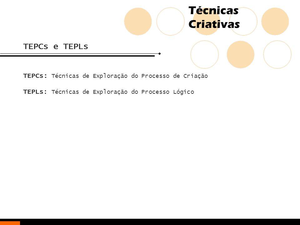 TEPCs e TEPLs TEPCs: Técnicas de Exploração do Processo de Criação