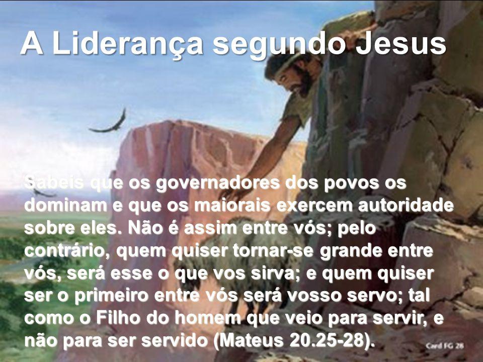 A Liderança segundo Jesus