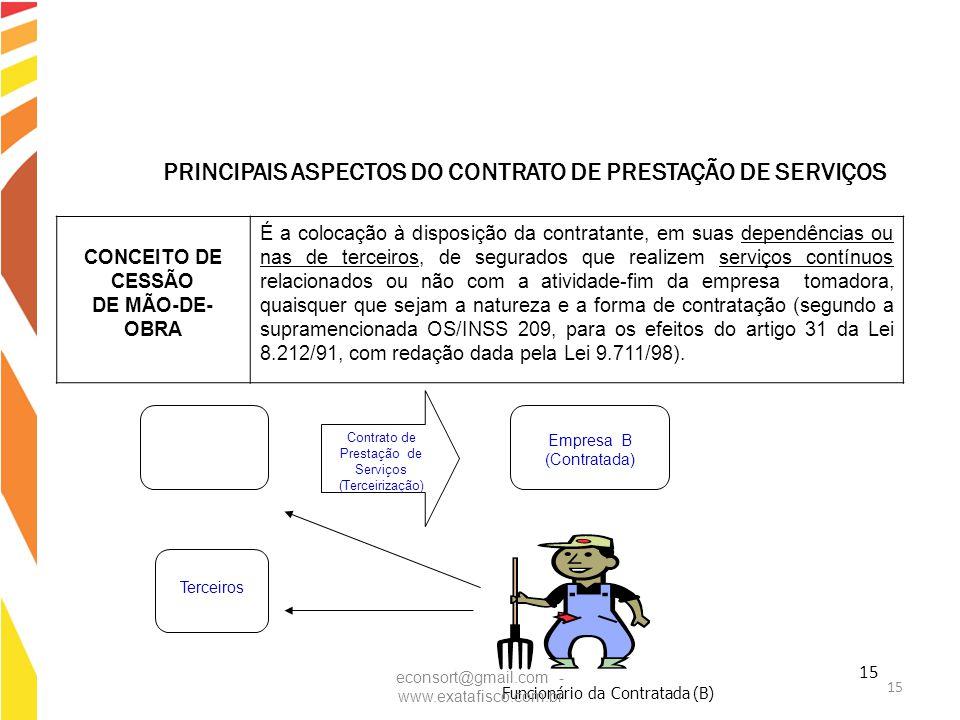 PRINCIPAIS ASPECTOS DO CONTRATO DE PRESTAÇÃO DE SERVIÇOS