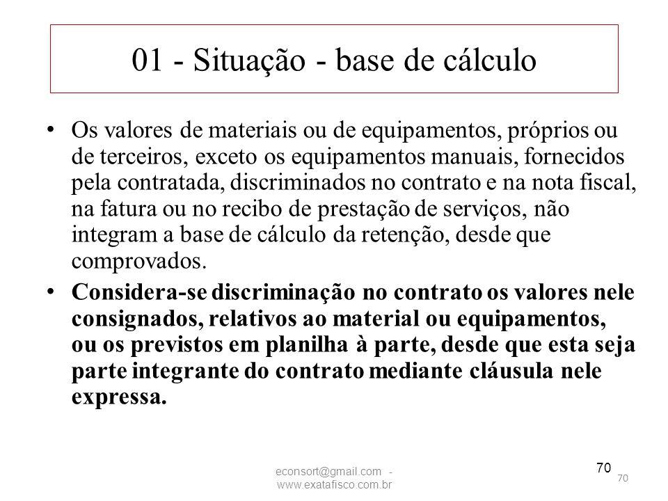 01 - Situação - base de cálculo