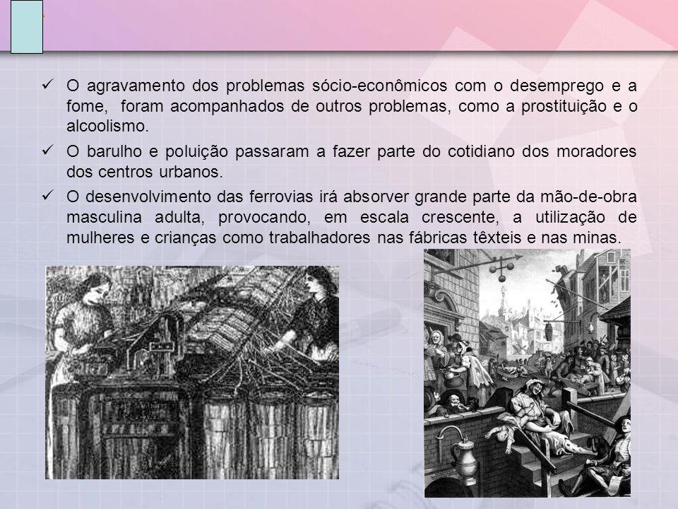 O agravamento dos problemas sócio-econômicos com o desemprego e a fome, foram acompanhados de outros problemas, como a prostituição e o alcoolismo.