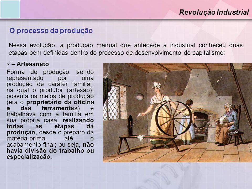 Revolução Industrial O processo da produção