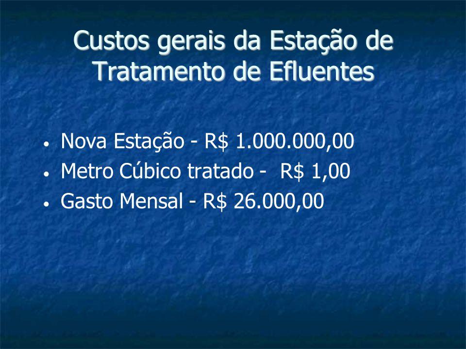 Custos gerais da Estação de Tratamento de Efluentes