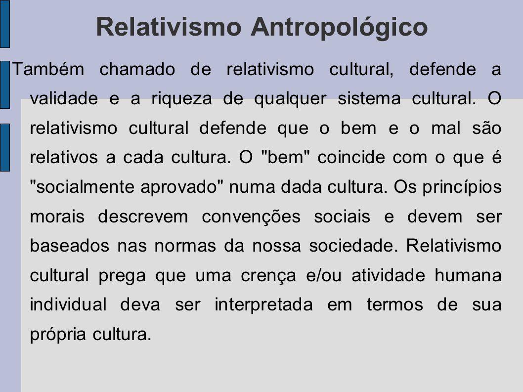 Relativismo Antropológico