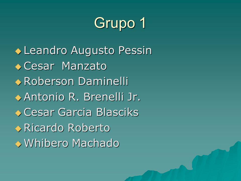 Grupo 1 Leandro Augusto Pessin Cesar Manzato Roberson Daminelli