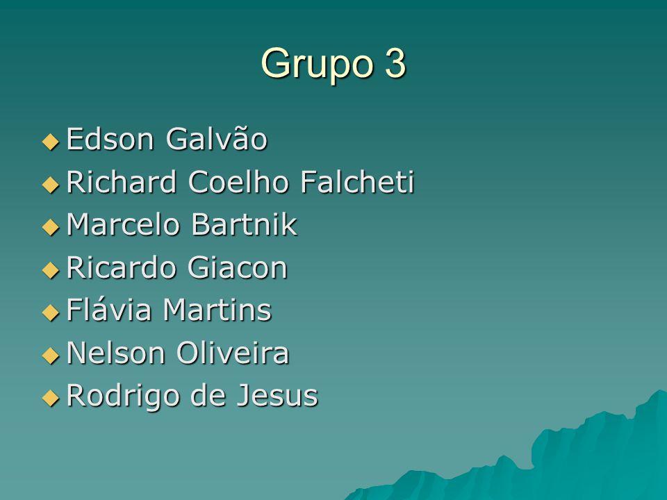 Grupo 3 Edson Galvão Richard Coelho Falcheti Marcelo Bartnik