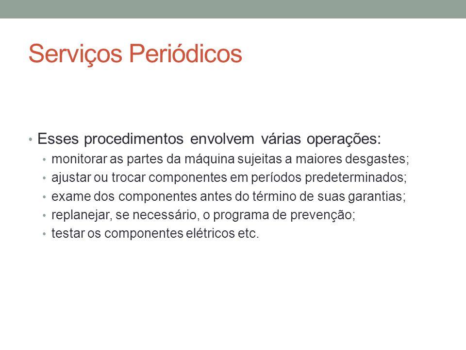 Serviços Periódicos Esses procedimentos envolvem várias operações: