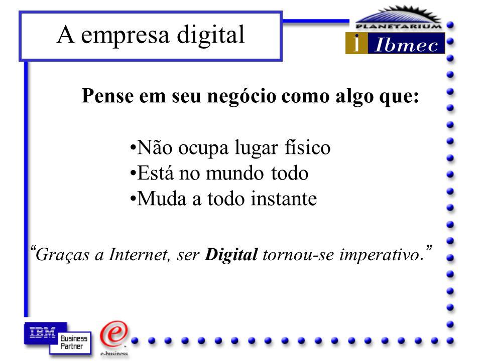 A empresa digital Pense em seu negócio como algo que: