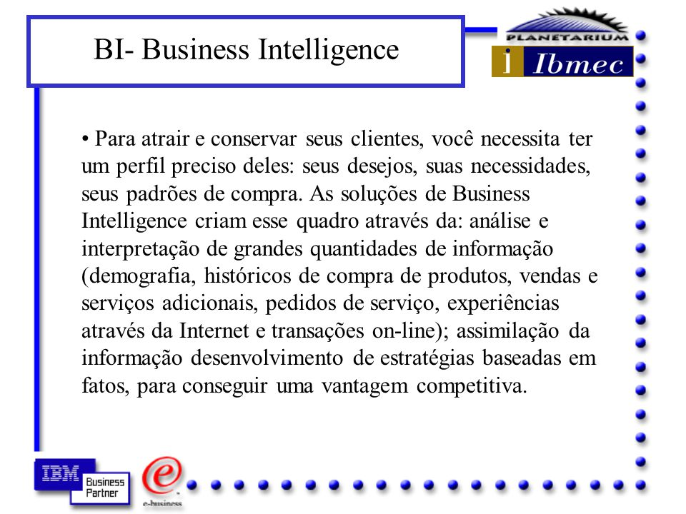 BI- Business Intelligence
