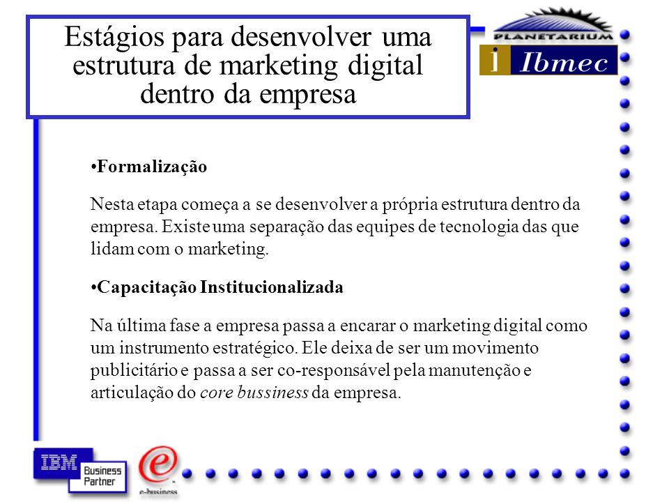 Estágios para desenvolver uma estrutura de marketing digital dentro da empresa