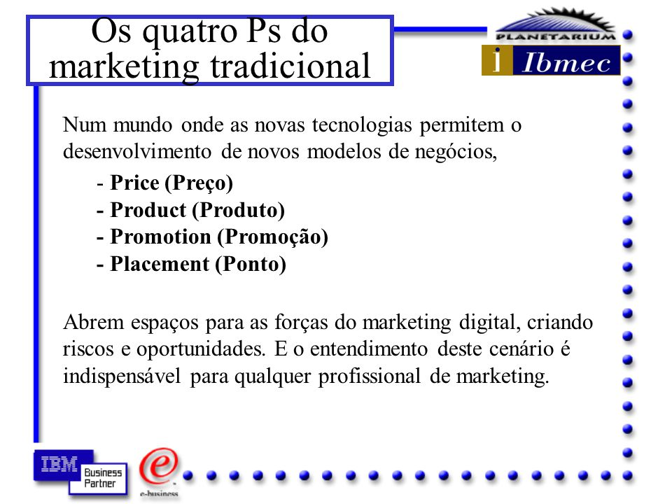 Os quatro Ps do marketing tradicional