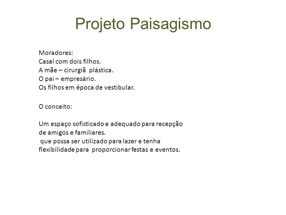 Projeto Paisagismo Moradores: Casal com dois filhos.