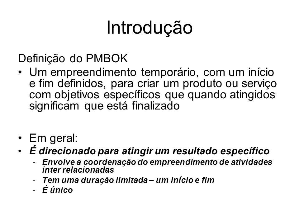 Introdução Definição do PMBOK