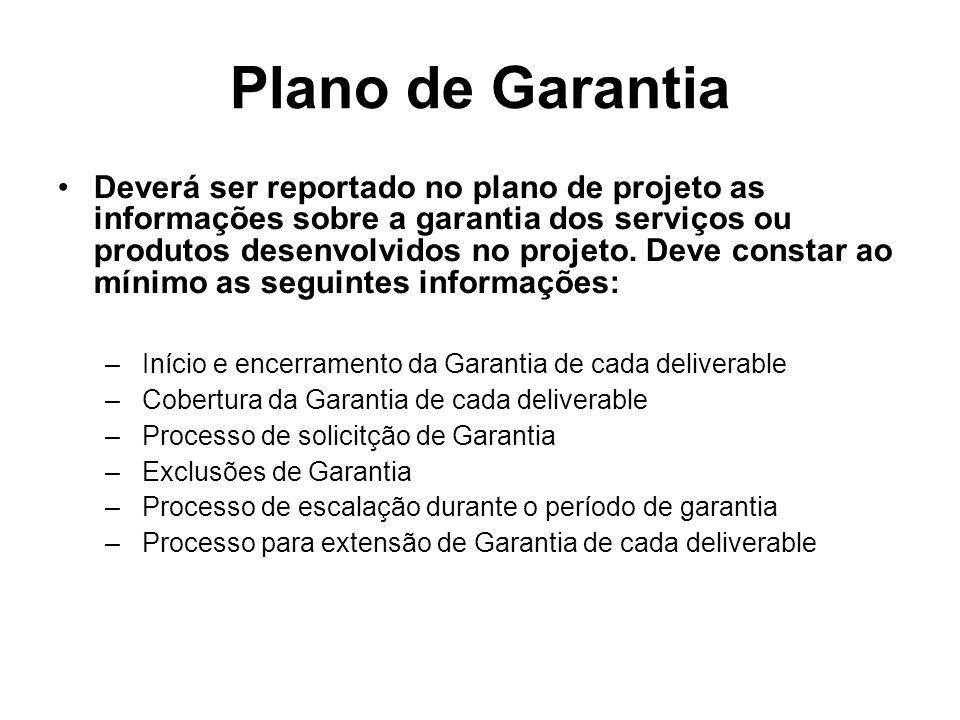 Plano de Garantia