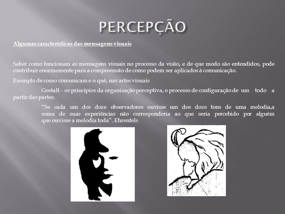 PERCEPÇÃO Algumas características das mensagens visuais