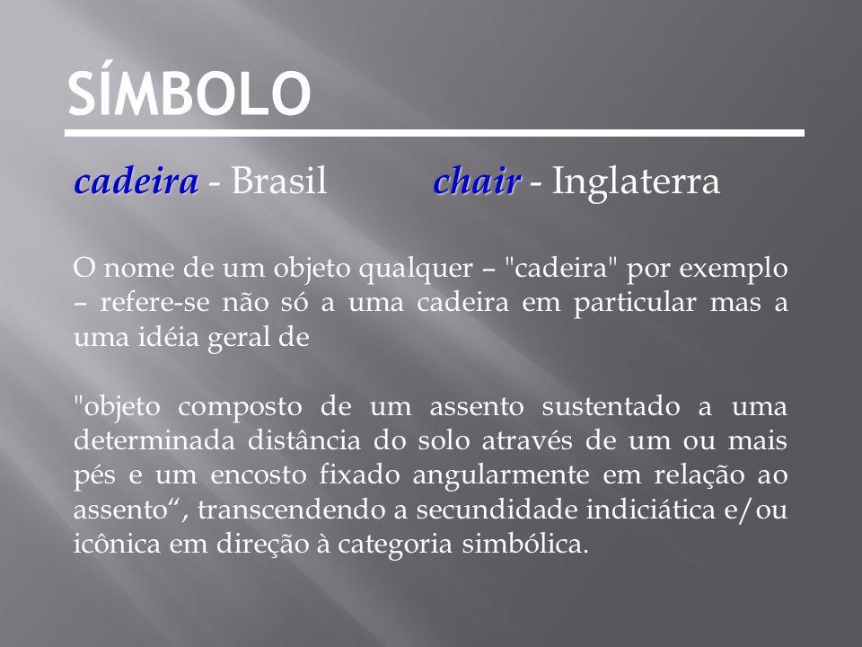 SÍMBOLO cadeira - Brasil chair - Inglaterra