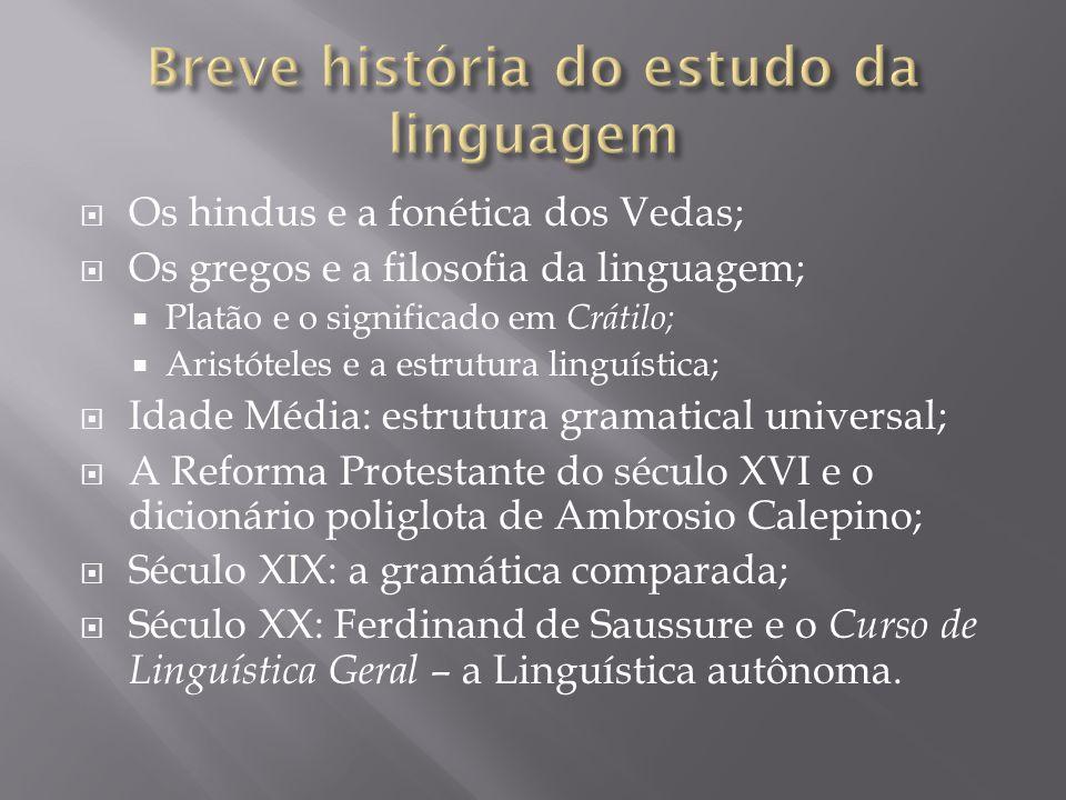 Breve história do estudo da linguagem